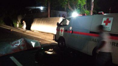Photo of Microbús de la ruta 113 choca con otro y deja varios lesionados en San Pedro Perulapán, Cuscatlán