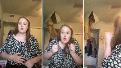 Photo of VIDEO | Mujer cae desde el techo en momentos que su hija cantaba en TikTok
