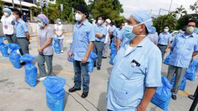Photo of Personal de limpieza y seguridad del ISSS es beneficiado con la entrega de víveres