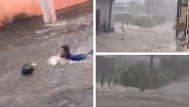 Photo of VIDEO| Correntada arrastra a hombre por fuertes lluvias en ciudad de San Miguel