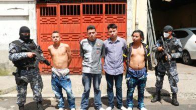Photo of Operativo logra arresto de cuatro presuntos pandilleros en barrio San Jacinto