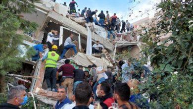 Photo of Captan colapso de edificios tras terremoto que dejó 4 muertos en Turquía