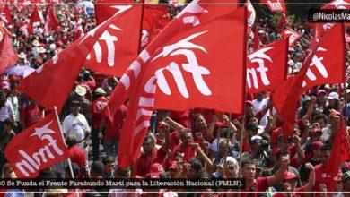 """Photo of El FMLN """"presume"""" de su relación con Nicolás Maduro en su 40 aniversario"""